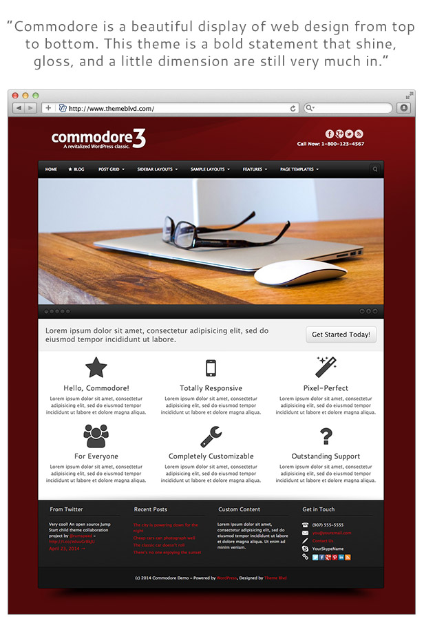 Commodore Responsive WordPress Theme